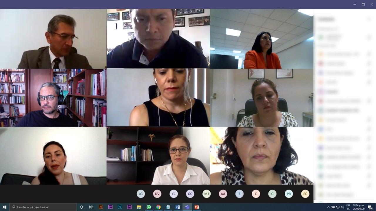 Reunión de seguimiento convocada por el IVAI, con los integrantes del Capítulo de Gobierno Abierto que coordina la Universidad Veracruzana.